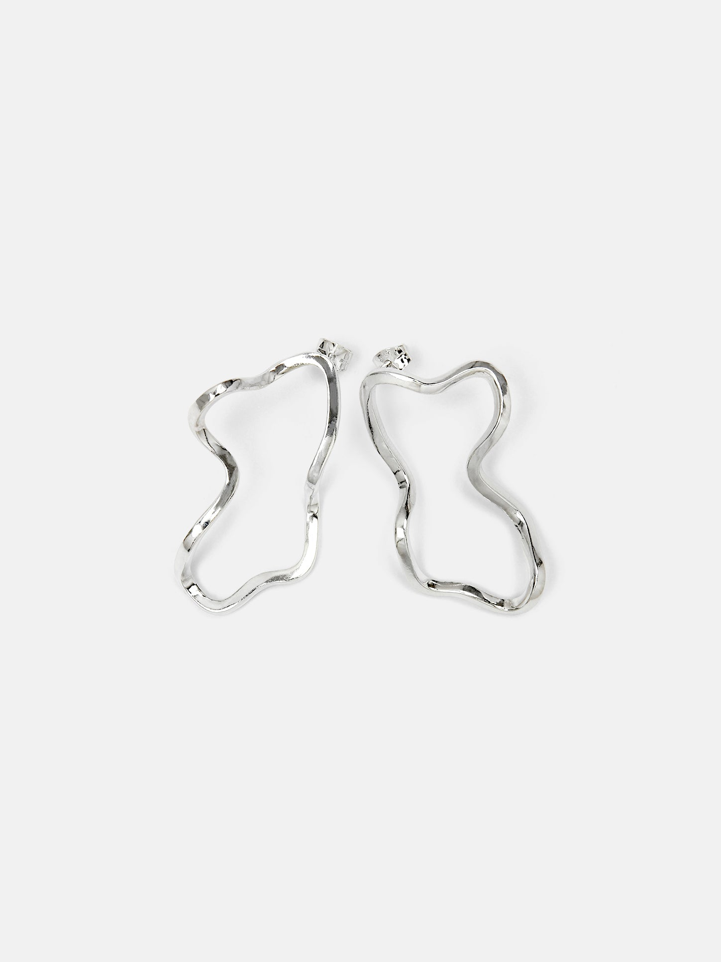 Dalga Earrings II, silver