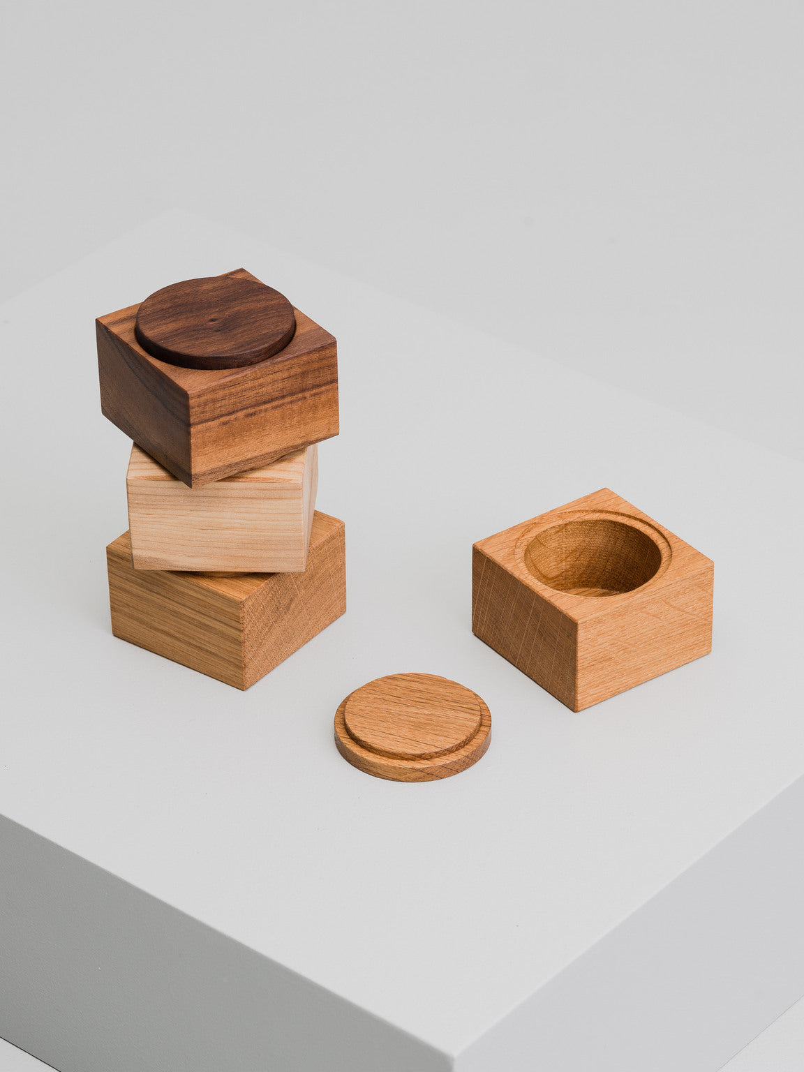Mix & Match container, oak
