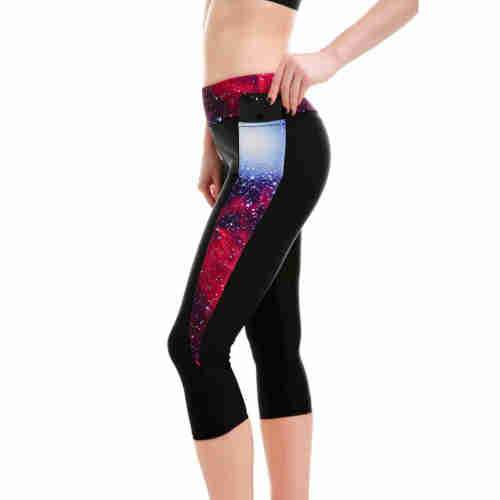 Splitting Galaxy Athletic Crop Leggings