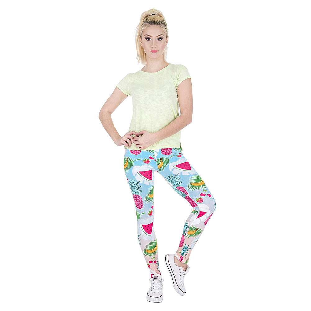 Tropical Fruits Leggings (Multicoloured)