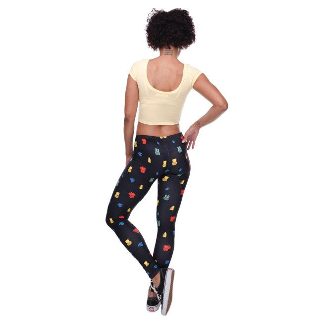 'Little Pineapple Black' Stretchable Women's Leggings Plus Size