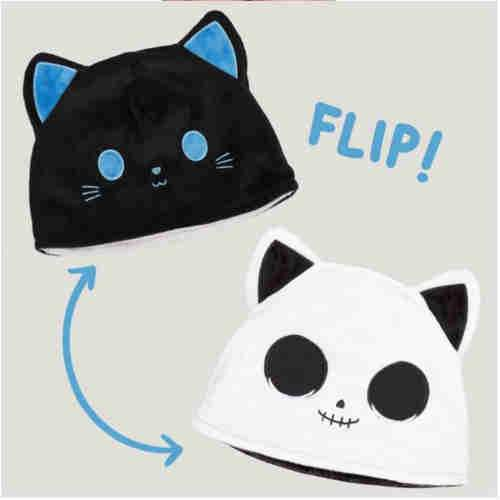 Reversible Cat Hat - Black and White