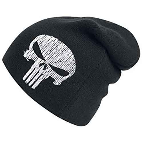 The Punisher Skull Logo Slouchy Beanie