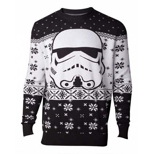 STAR WARS Star Wars The Last Jedi Stormtrooper Mask Christmas Knitted Sweater