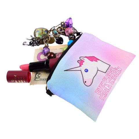 Bitch Please Unicorn Rainbow Coin Purse