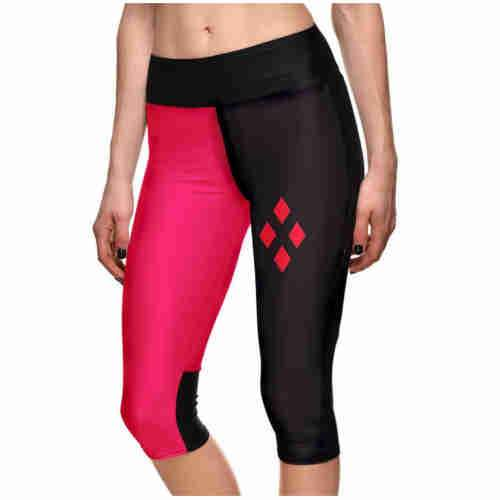 Harlequin Cropped Leggings