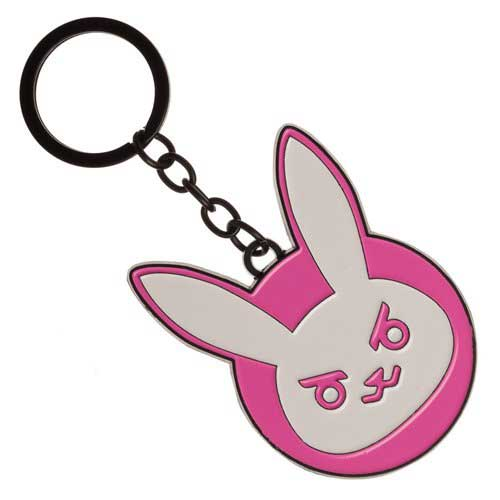 Overwatch D.Va Bunny Logo Metal Key Chain