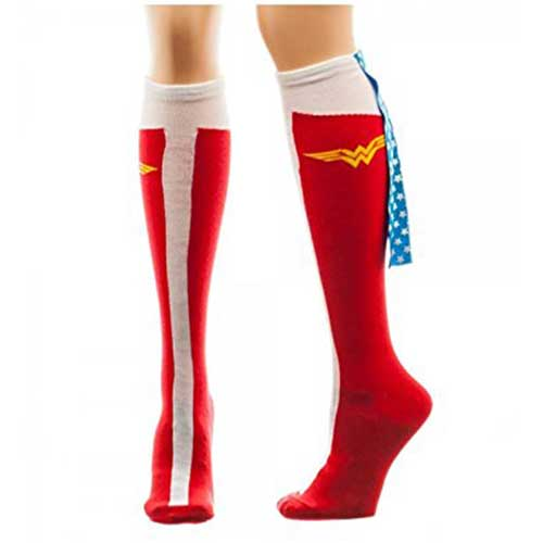 Wonder Woman Caped Boots Women's Knee High Socks
