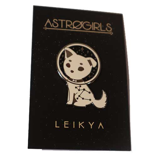 Astrogirls Laka Space Dog Pin Badge