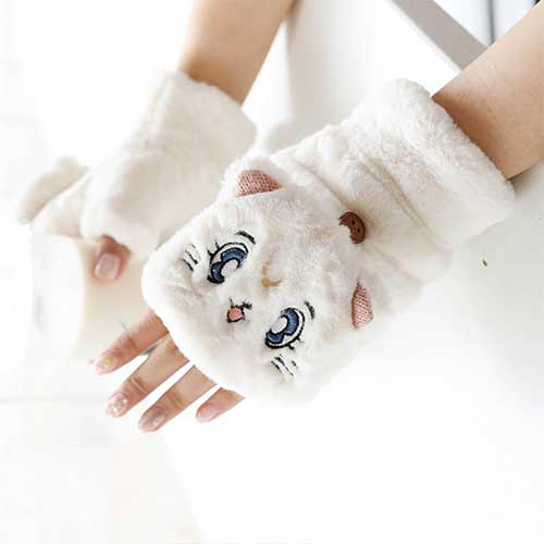 Sailor Moon Kawaii Artemis Plush Gloves