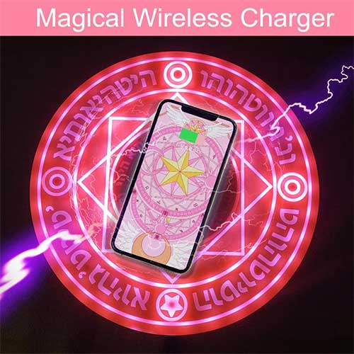 Magic Circle Cardcaptor Sakura Pink Star Wireless Charger Pad (sound)