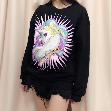 Cartoon Unicorn Sweatshirt