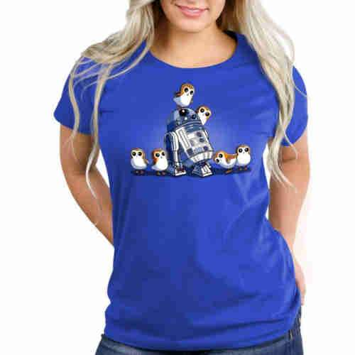 R2D2 and Porgs Fitted TShirt