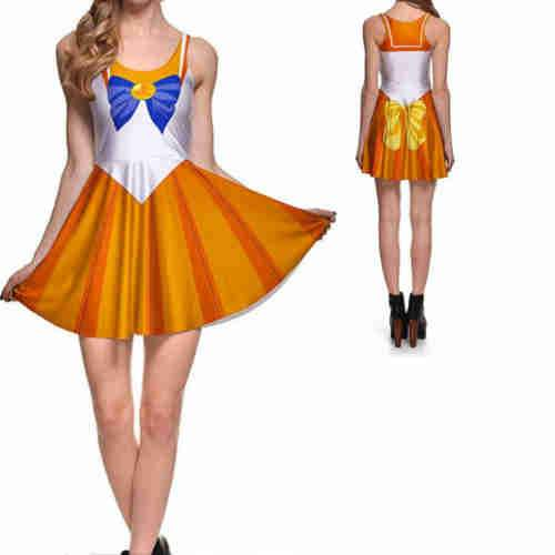 Sailor Moon Venus Scout Skater Dress
