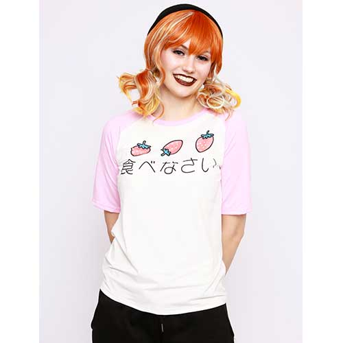 Kawaii Strawberry Loose T-shirt