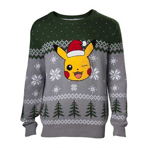 POKEMON Pikachu Winking Christmas Knitted Sweater