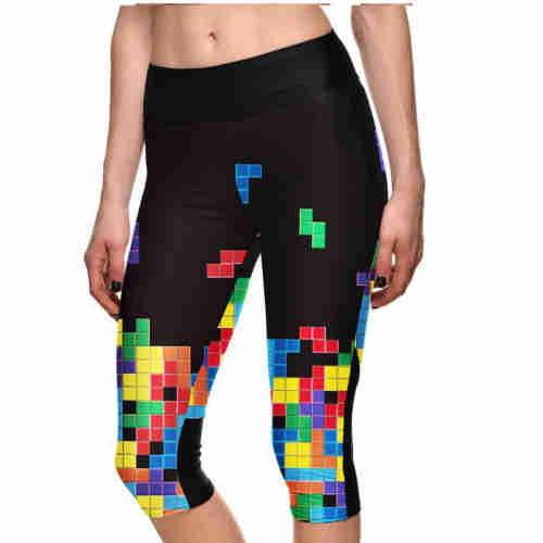 Tetris Cropped Leggings