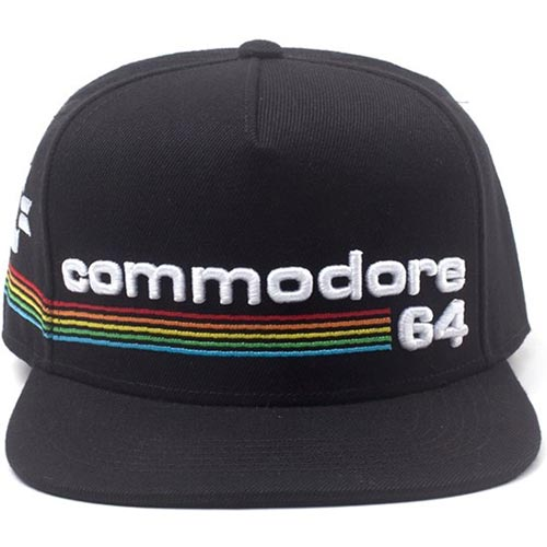 COMMODORE 64 Embroidered Full Rainbow Logo Snapback