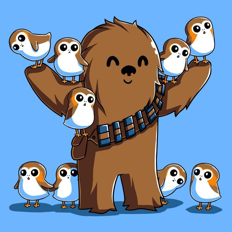 Chewie and Porgs Fitted Tshirt
