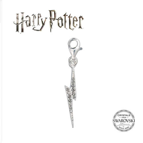 HARRY POTTER EMBELLISHED WITH SWAROVSKI® CRYSTALS LIGHTNING BOLT CLIP ON CHARM