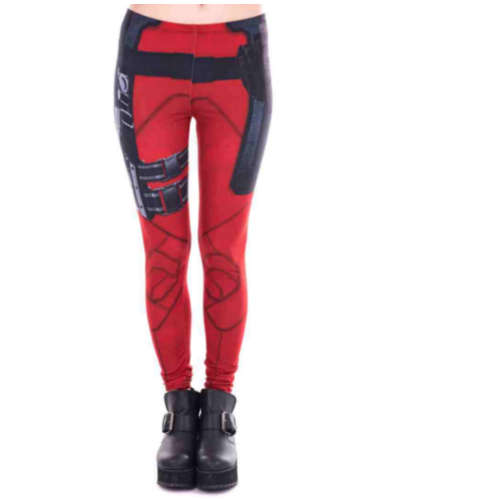 Red Hero Leggings
