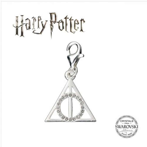 HARRY POTTER EMBELLISHED WITH SWAROVSKI® CRYSTALS DEATHLY HALLOWS CLIP ON CHARM