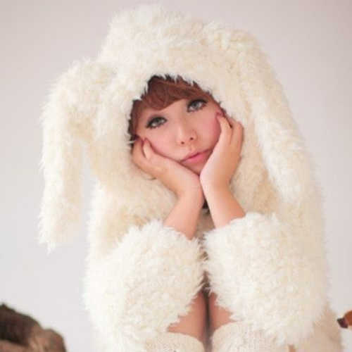 Kawaii Rabbit Long Ears Fluffy Coat High Quality -COAT