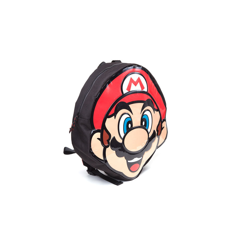 NINTENDO Super Mario Bros. Mario Face Shaped Backpack, Red