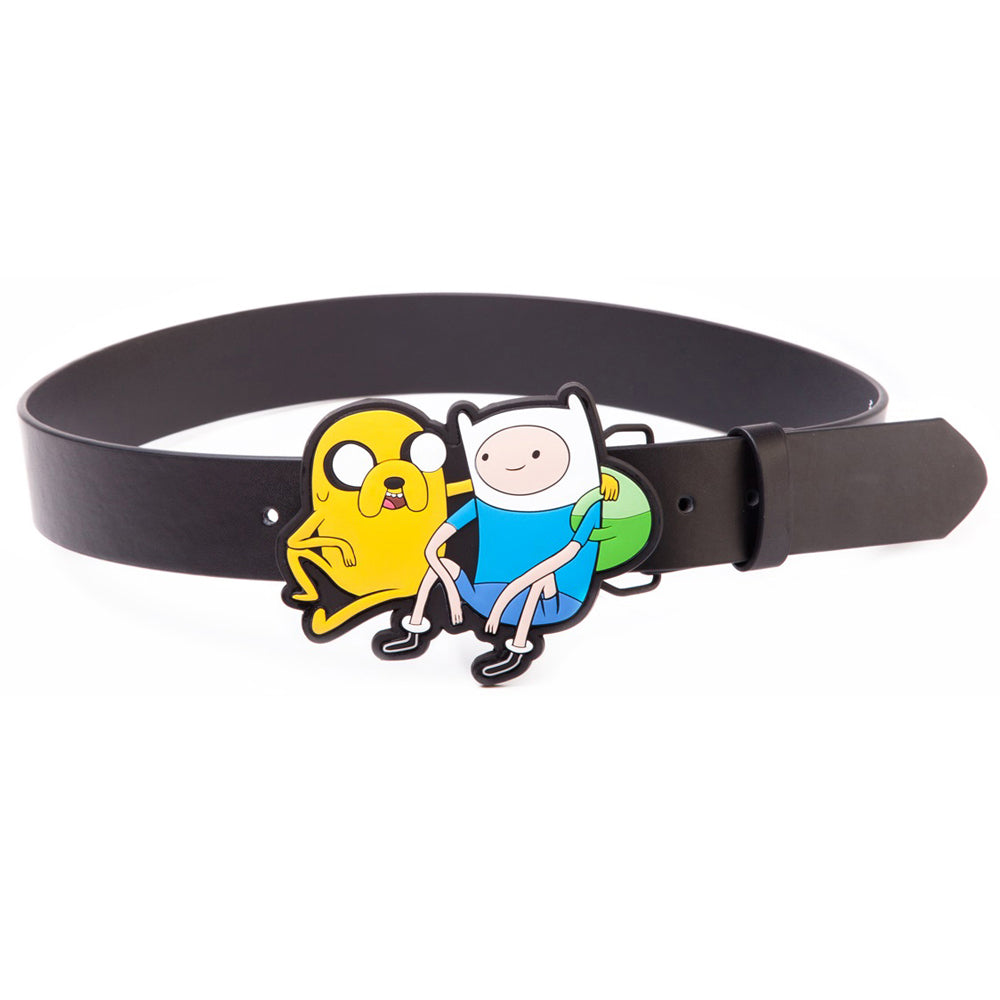 ADVENTURE TIME Black Belt with Jake & Finn 2D Buckle, Large (BT0MW8ADV-L)