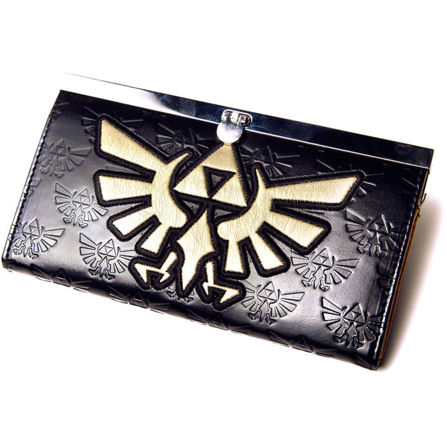 NINTENDO Legend of Zelda Girls Gold Link Logo Purse Wallet
