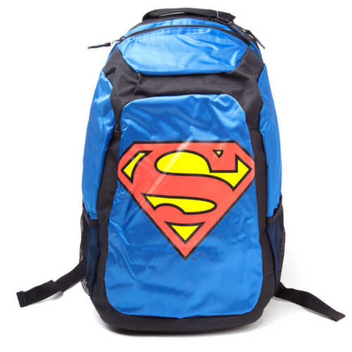 DC COMICS Superman Rucksack with Novelty Red Cape, Blue/Black
