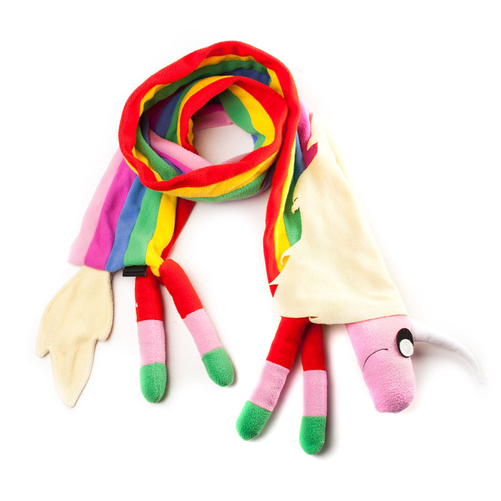 ADVENTURE TIME Lady Rainicorn Colourful Scarf with Plush-like Effect
