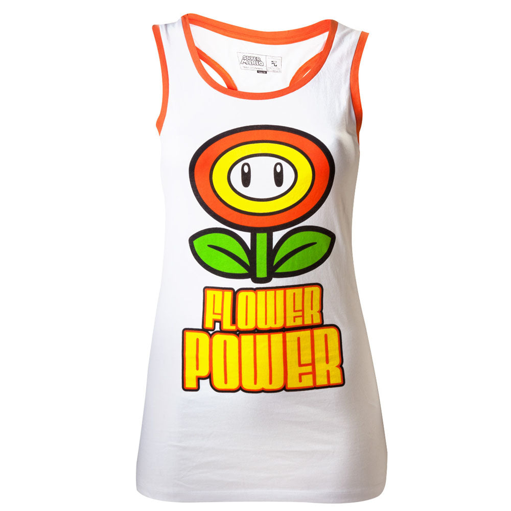 NINTENDO Super Mario Bros. Female Flower Power Tank Top