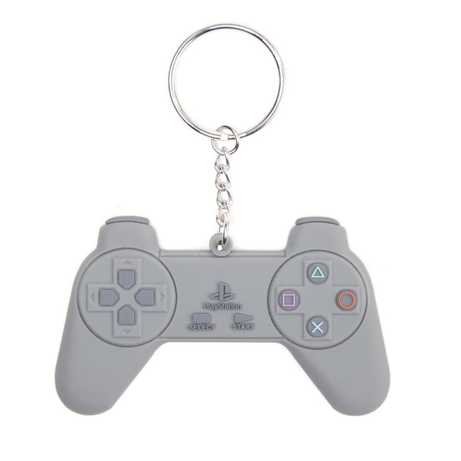SONY PlayStation Rubber Resin PlayStation One Gaming Controller Model Keyring, Grey (KE128828SNY)