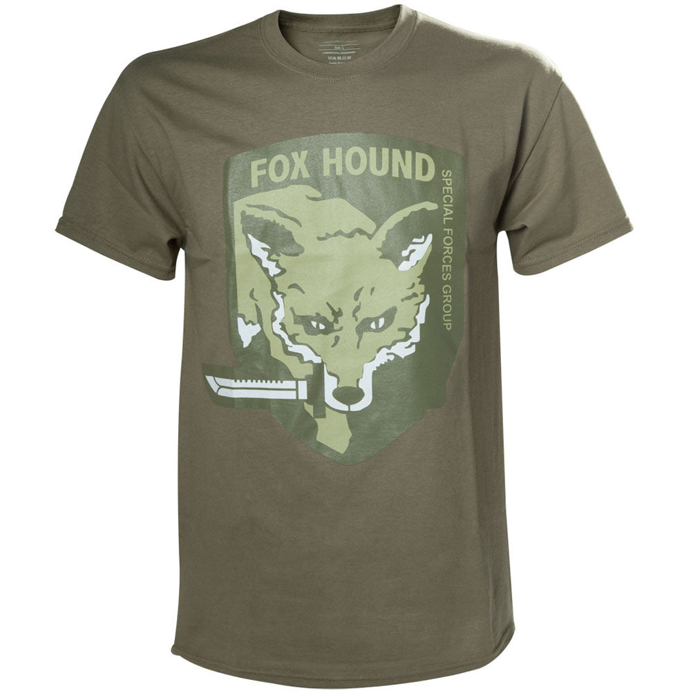 METAL GEAR SOLID Fox Hound Special Forces Group Men's T-Shirt, Small, Beige (TS240007MGS-S)