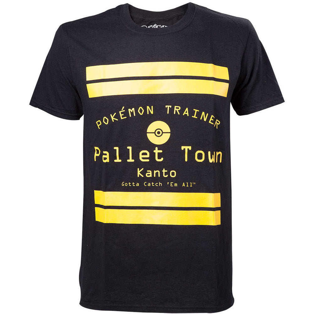 POKEMON Pallet Town Kanto Men's T-Shirt, Extra Extra Large, Black (TS408064POK-2XL)