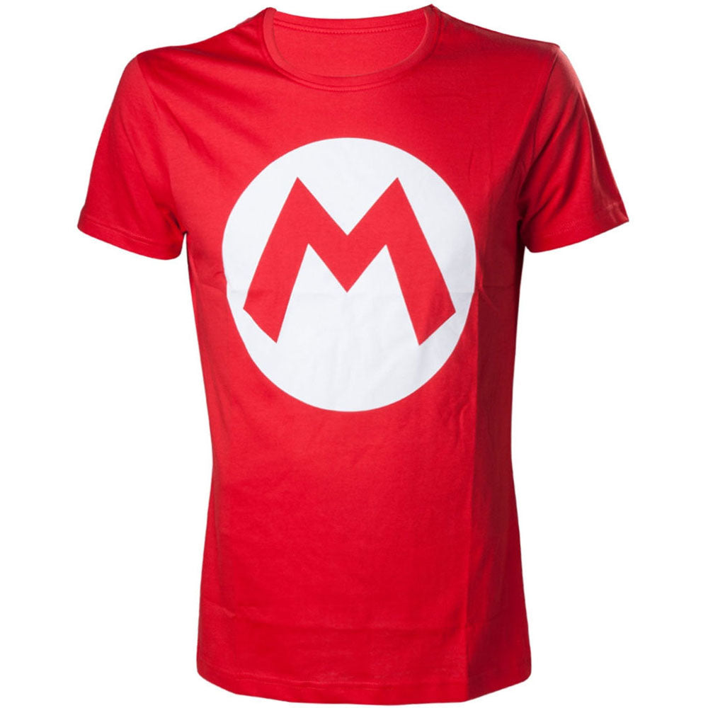 NINTENDO Super Mario Bros. Big Mario Logo Men's T-Shirt, Extra Large, Red (TS313152NTN-XL)