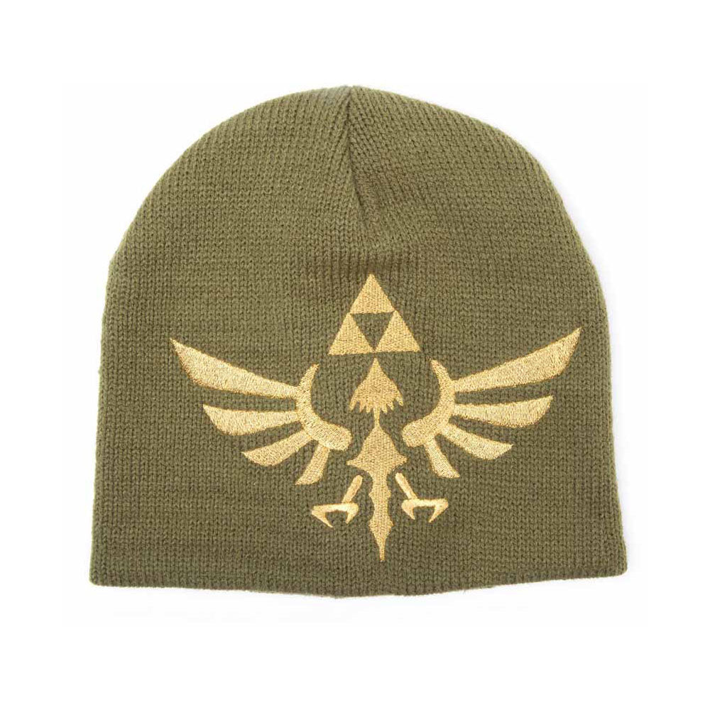 NINTENDO Legend of Zelda Skyward Sword Golden Royal Crest Woven Beanie, One Size, Green