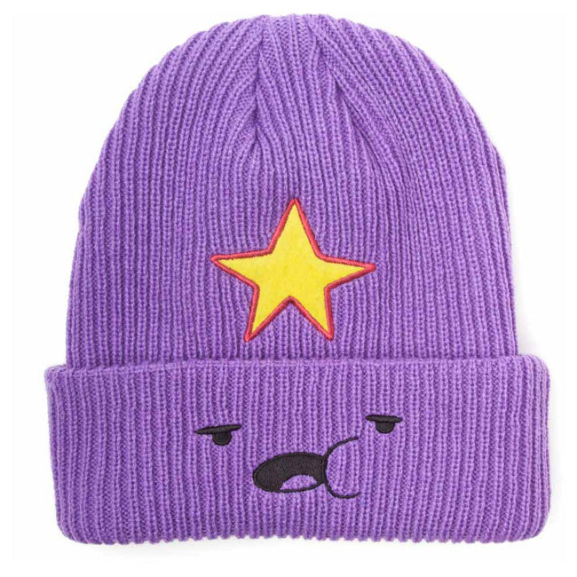 ADVENTURE TIME Lumpy Space Princess Face Fisherman Beanie, One Size, Purple