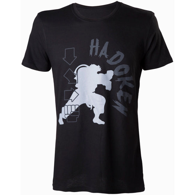 CAPCOM Street Fighter IV Hadoken T-Shirt, Small, Black