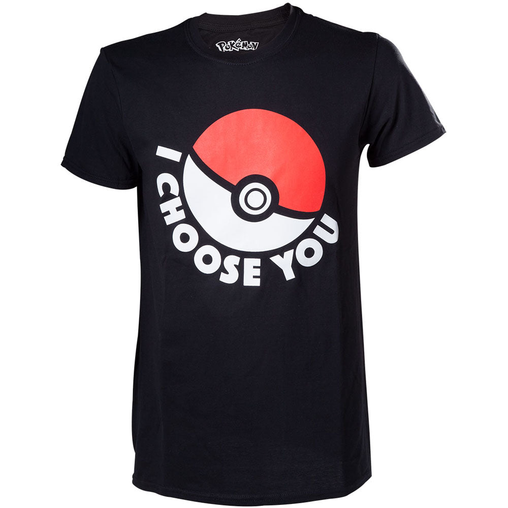 POKEMON I Choose You Men's T-Shirt, Extra Large, Black (TS120312POK-XL)