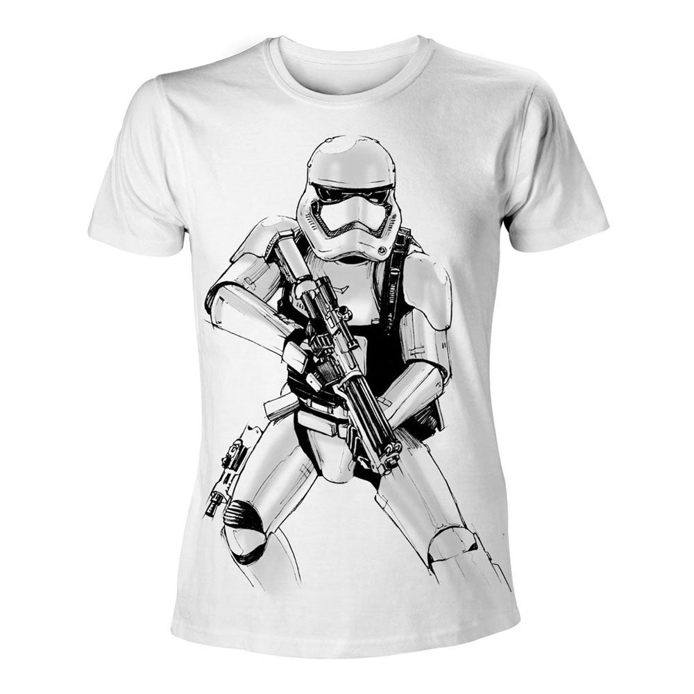 STAR WARS VII The Force Awakens  Armed Stormtrooper Sketch T-Shirt