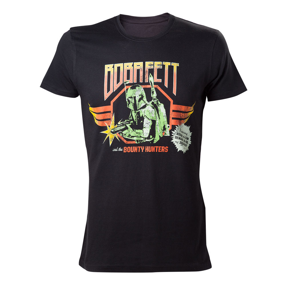 STAR WARS  Vintage Boba Fett and the Bounty Hunters Rock Poster T-Shirt