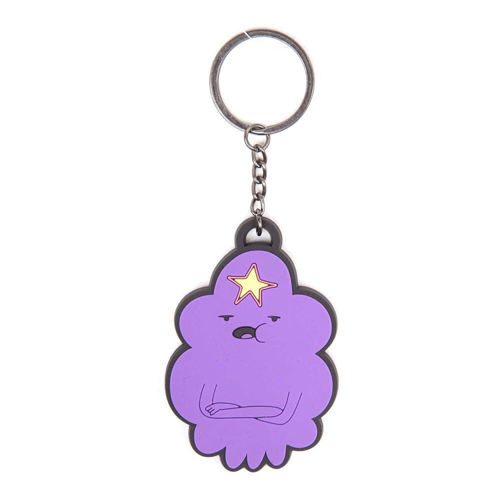 ADVENTURE TIME Lumpy Space Princess Rubber Keychain, One Size, Multi-Colour
