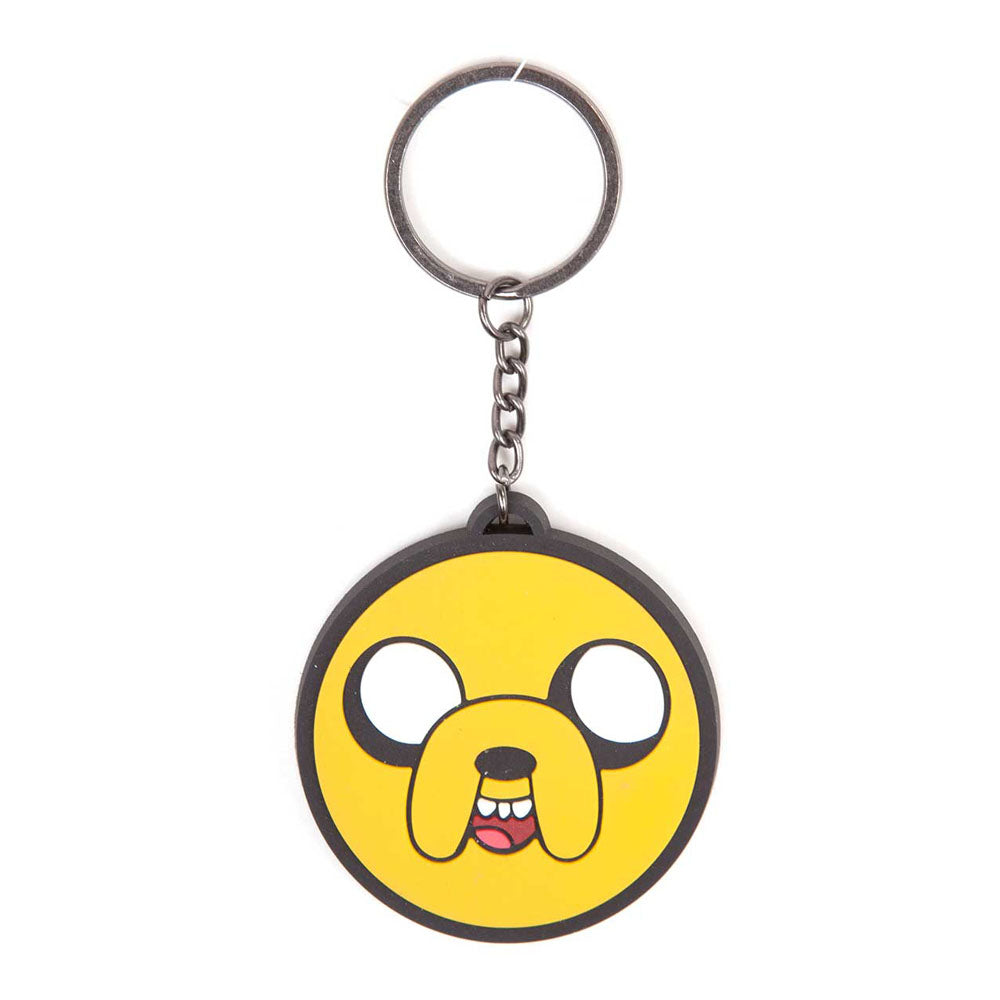 ADVENTURE TIME Jake Face Rubber Keychain, One Size, Multi-Colour