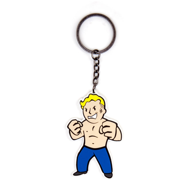 FALLOUT 4 Vault Boy Strength Skill Rubber Keychain, One Size, Multi-Colour