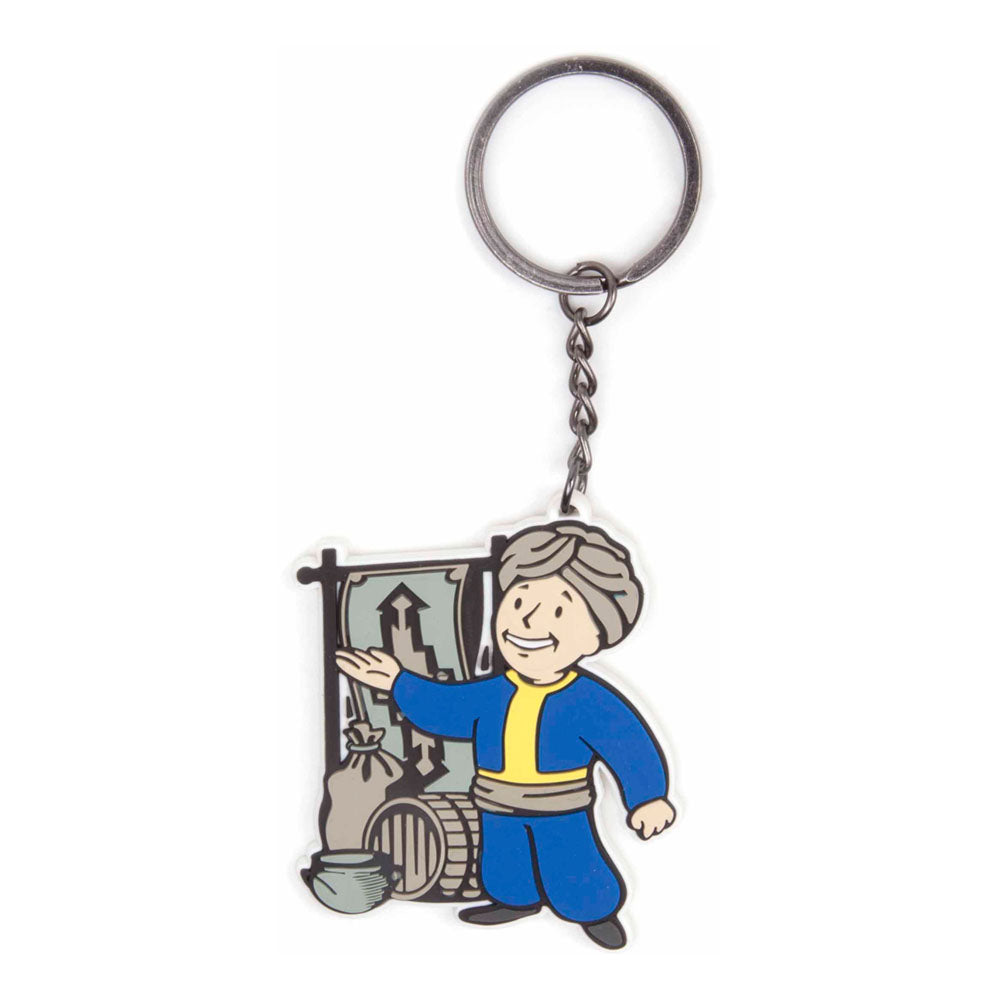 FALLOUT 4 Vault Boy Barter Skill Rubber Keychain, One Size, Multi-Colour