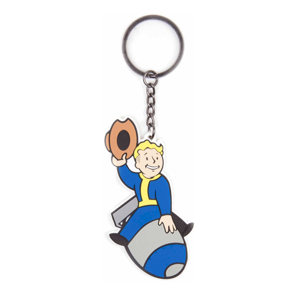 FALLOUT 4 Vault Boy Bomber Skill Rubber Keychain, One Size, Multi-Colour