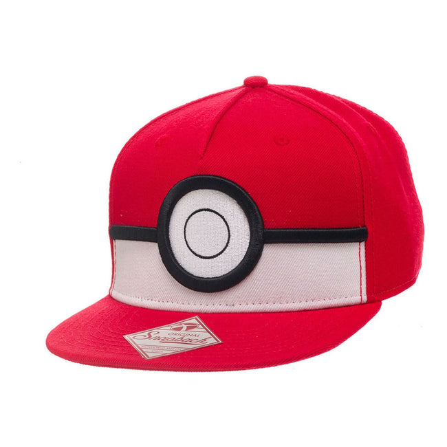 POKEMON 3D PokeBall Snapback Baseball Cap, One Size, Red (SB26GIPOK)