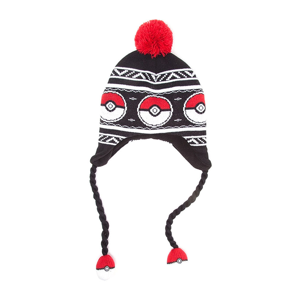 POKEMON Pokeball Laplander Earflap Beanie, One Size, Multi-Colour (KC1XJIPOK)